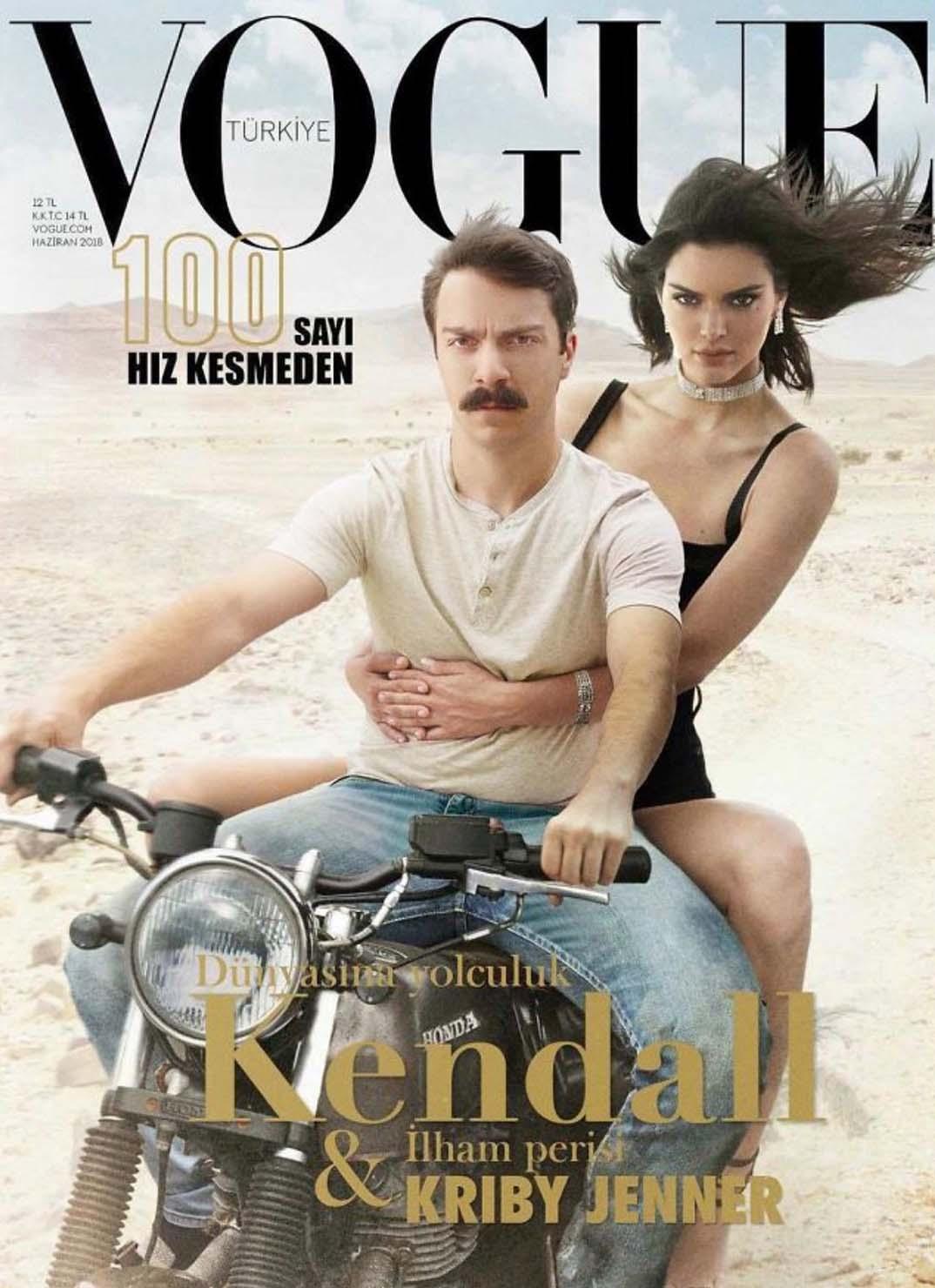 Photoshopper seg selv inn i Kendall Jenners bilder