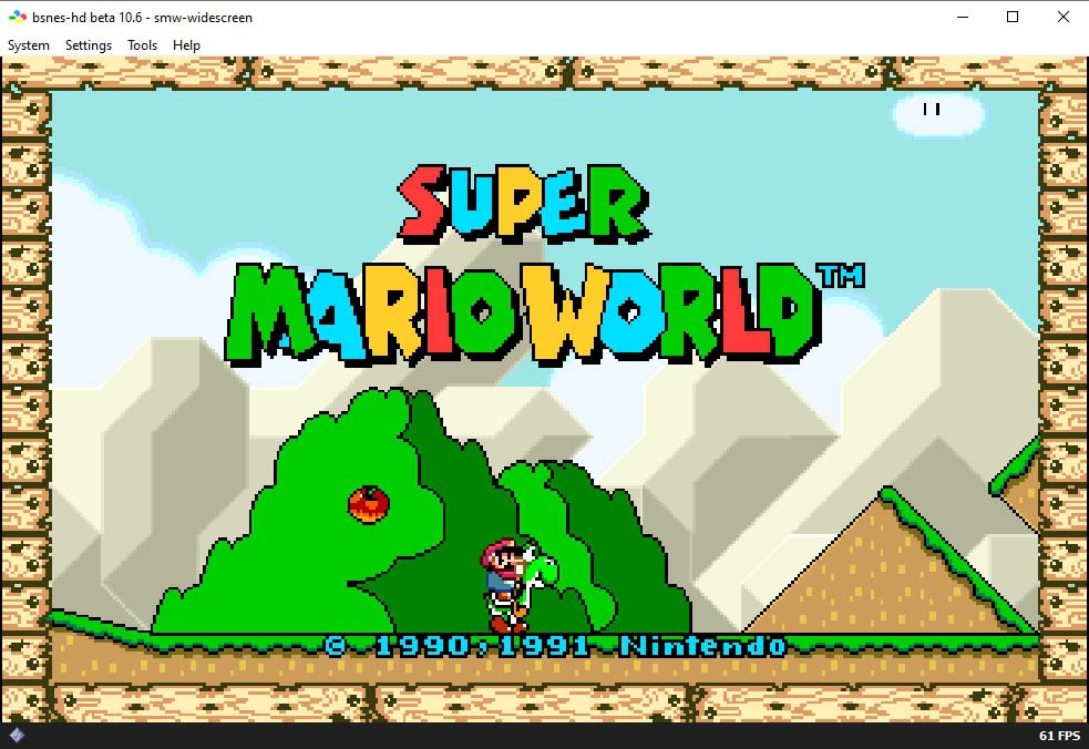 Super Mario World til SNES i widescreen format!