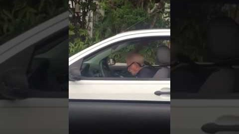 Old dude headbanging to Metallica
