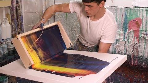 Callen Schaubs abstract paintings