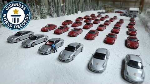 Largest collection of model cars and dioramas