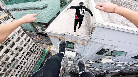 Rooftop POV Escape from Hong Kong security