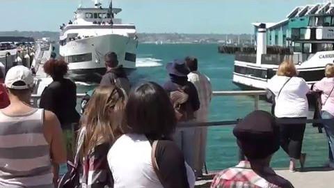 Boat Crashing Into San Diego Dock