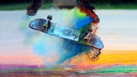 Explosions of Color: Skateboarding