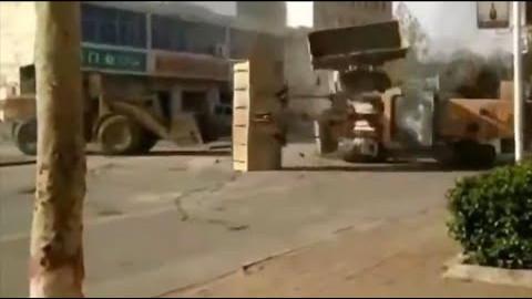 Bulldozer fight i Kina