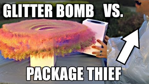 Package thief vs Glitter bomb